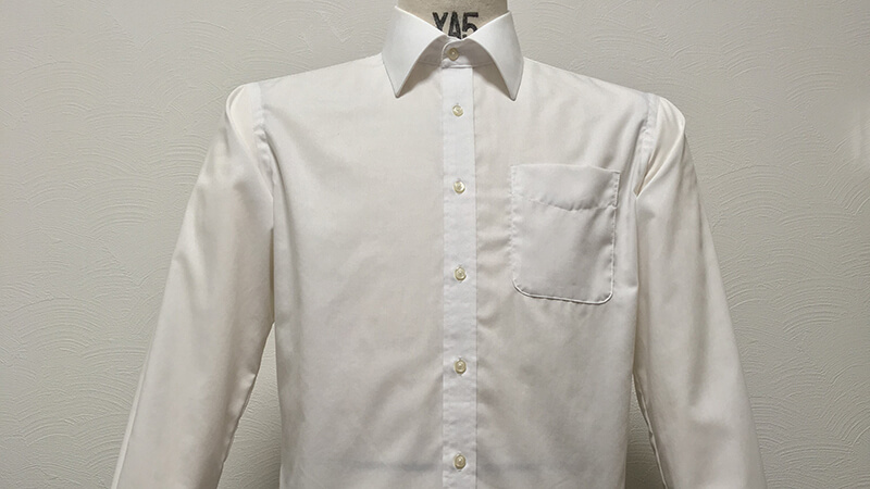 AOKIの形態安定シャツをガス乾燥器でタンブル乾燥