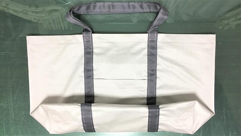 A3ショップバッグの持ち手部分のステッチ写真2