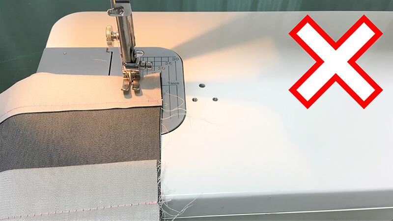 A3ショップバッグのバッグ縫い合わせ・左の写真2