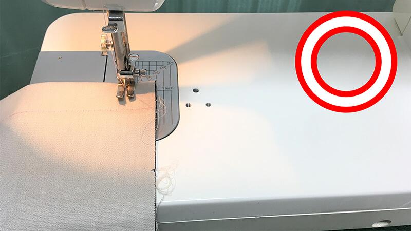 A3ショップバッグのバッグ縫い合わせ・左の写真1