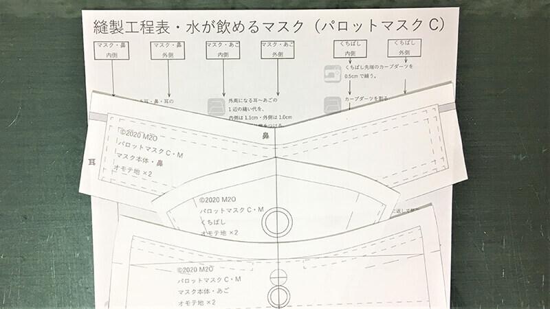 パロットマスクCのパターンの写真