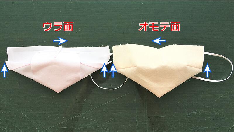 黒子風マスクのアイロン処理1