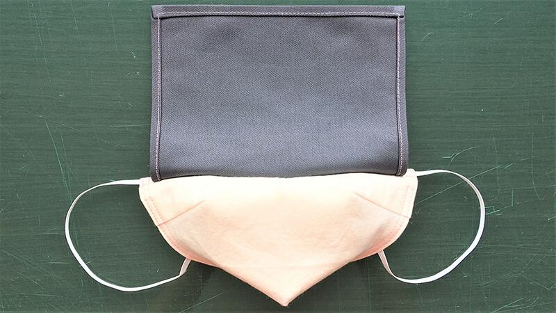 黒子風マスクの仕上げ縫い2