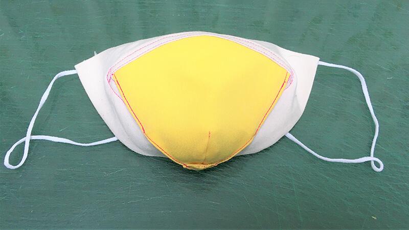 パロットマスクAの固定ステッチの写真8-32