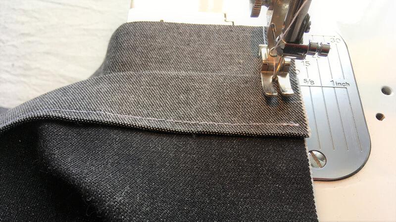マチ付きトート1のポケットのL字縫い1