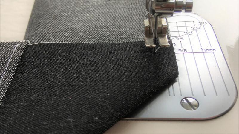 マチ付きトート1のポケットのL字縫い2
